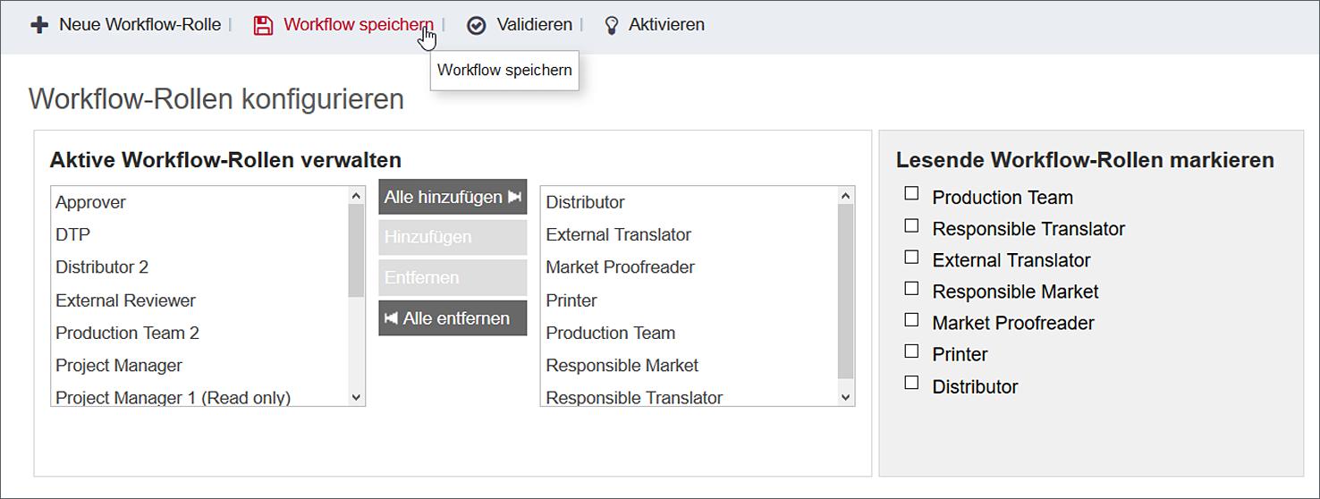 Workflow-Editor in ONTRAM