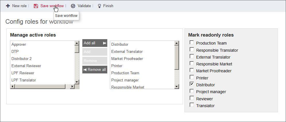 Workfloweditor in ONTRAM