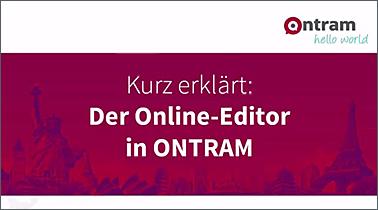 Video zum ONTRAM Online-Editor