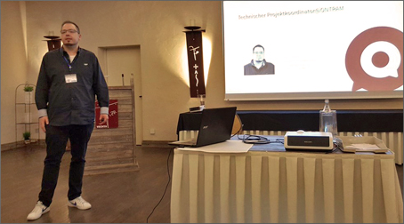 Sven Steuer during his presentation at the SEROM