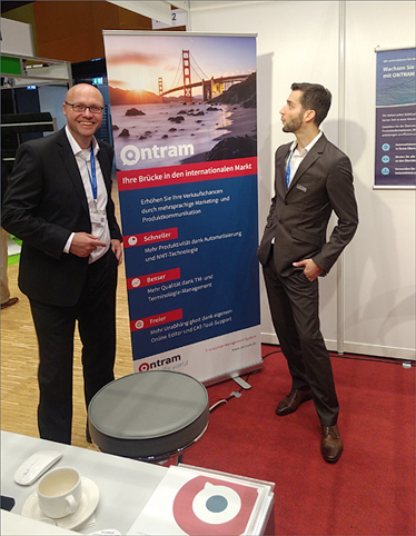 Dirk Krause and Michael Csorba at our booth at tekom 2017