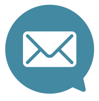bubble with mail icon